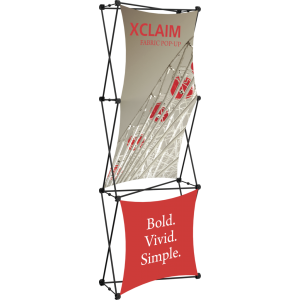 Xclaim 2.5ft Fabric Popup Display Kit 02