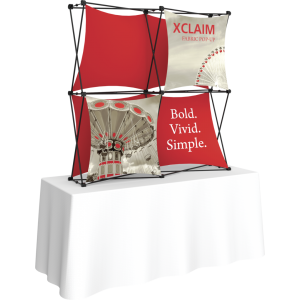 Xclaim 5ft Tabletop Fabric Popup Display Kit 01
